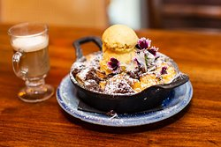House-made Bread Pudding with Thyme Ice Cream