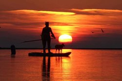 Sunset sup on the wirral peninsula