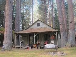 Whether it is a romantic weekend or family vacation, Historic Log Cabin is a window to the past when life was simpler. Vintage artwork and furniture adorn the porch where you can enjoy an unobstructed view of the majestic Metolius River. Originally built in 1948, this is a rustic cabin that has been moderately updated over the years. This is our closest cabin to the river. So, sit back and relax to the sounds of the flowing, cold water and view wildlife right off the steps off the porch.
