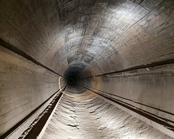 The cleared railway tunnel