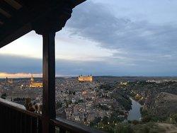 バルコニーからの眺め 日の入り