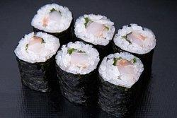 Seabass & Shiso roll