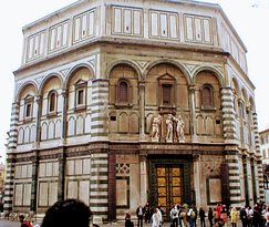Baptistry of St John  in Florence Italy