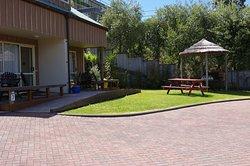 Outside garden studio