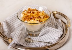 Yogurt with honey & walnuts!