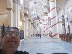 """In the aisle along the length of the Cathedral on one side (in the """"main part"""" of the Cathedral)"""