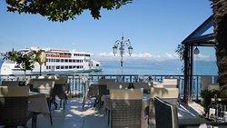 Terrazza vista lago del ristorante