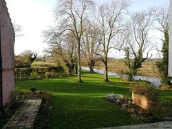 The view of the gardens and Wensum River from the Dressing Room