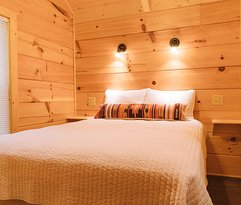 Luxury cabins with all the comforts of home.