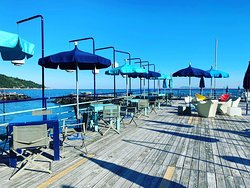 Restaurant on the sea