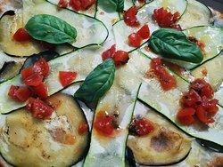 Pizza blanca Vegetariana