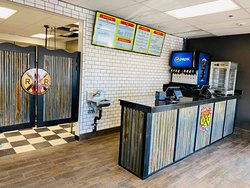 This is the interior of R & R Pizza Express where you can place or pick-up your order for Carry-out.