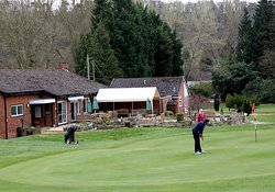 Putting out on the 18th Green at Bridgnorth Golf Club,  The Best Golf Course in Shropshire