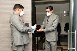 guest hand sanitisation on arrival for Banquet