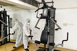 Sanitizing the fitness centre