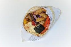 Vegan Souvlaki Greek Wrap