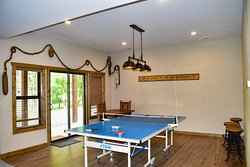 Large cabins feature additional spaces. Cabin 5 w/Ping Pong.