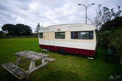 The retro caravan!  Comfy double bed.