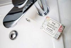 Handmade Clovelly guest soaps - only the best for our guests.