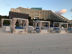 just a few of the cabanas