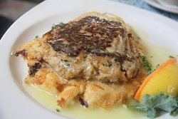 Fish with crab cake and bearnaise sauce