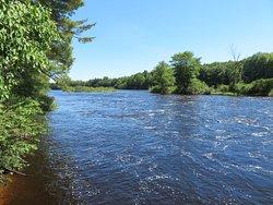 Wisconsin River below hydro dam