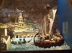 Reprodução da vida cotidiana dos pescadores do rio Guadalquivir na Torre de Calahorra, em Córdoba.