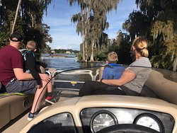 The LEGO Land Pirate 🏴☠️ Hotel Pontoon Boat Cruises are a fun filled family adventure, filled with Beautiful Wildlife, Sunrises, Sunsets 🌅 and  gorgeous Lakeside homes 😎🐊🦦🦅