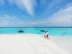 Romantic Jet ski sandbank