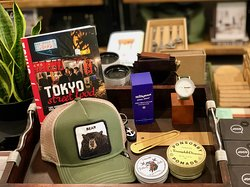 We have a curated selection of books, mens accessories, grooming products and gifts.
