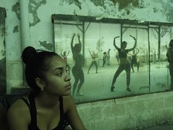 cuban modern dancers , photography in a workshop in havana