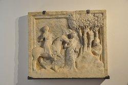 Antica formella della storia di San Galgano