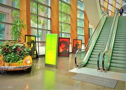 Lobby w/VW planter and Rock star posters...cool!