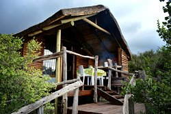 Bush cabins with self-catering facilities.