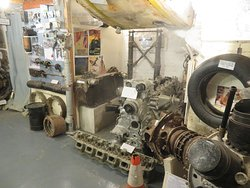More stand-along exhibits - engine from a German Junkers bomber that crashed off Clacton. Netted by a fishing boat in the late 1970s.