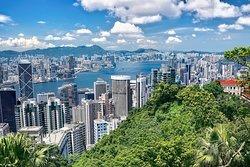 City view, Barker Road, the Peak, Hong Kong