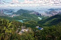 The amazing view, South Side, Hong Kong Island, from Severn Road at the Peak