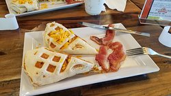 WOW in a cup o' joe and a breakfast burrito