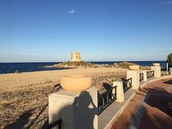 spiaggia della torre spagnola Spanish tower beach in Bari Sardo