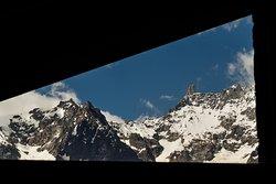 La spendida vista del monte bianco dal nostro ristorante.