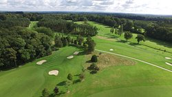 Aerial view of the Manor Course