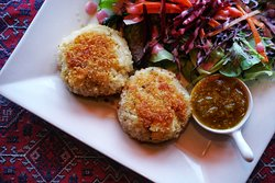 Our Fishcakes are a staple on our lunch menu. They change up daily depending on what the catch of the day is!