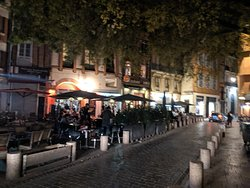Night time in Saint George Place.