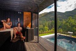 Sauna con vista