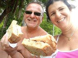 Panini comprati nel bar/ristorante presso il lago di Barrea