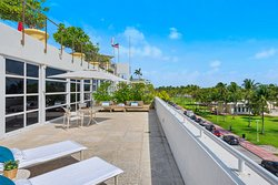 Over-sized terrace on our Penthouse One Bedroom Ocean View units