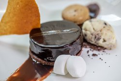 Deconstructed Rocky Road in Westgate Room