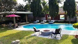 Our pool area