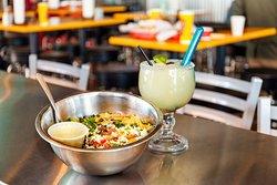 Try one of our delicious salads, with a margarita on the side!