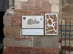 Placa de la Gleisa Sernin's church.